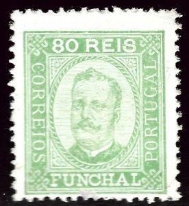 Funchal Portugal Sc#8 Mint F-VF hr SCV$15.00...Popular Country!