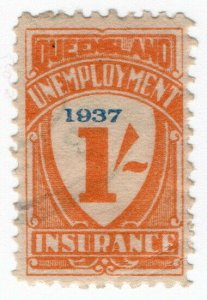(I.B) Australia - Queensland Revenue : Unemployment Insurance 1/- (1937)