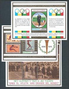 Nicaragua Michel #BL88-90 NH Montreal Olympics (3 SS)