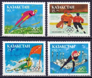 Kazakhstan. 1994. 37-40. Winter Olympic Games. MNH.