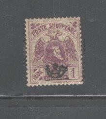 ALBANIA 1920  #134, OVERPRINT,  MH