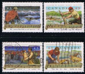 Canada #1491-4 Folk Songs  VF Used Set