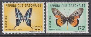 Gabon 740-741 Butterflies MNH VF