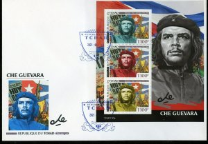 CHAD  2021 CHE GUEVARA  SHEET FIRST DAY COVER