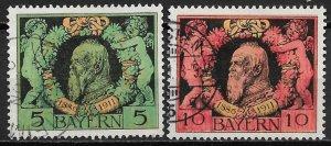 1911 Bavaria 92-3 Prince Regen, Luitpold used C/S of 2