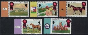 Isle of Man Horse Racing Paintings 5v margins SG#942-946