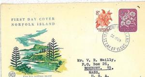 FLOWERS - FDC COVER :  Norfolk Island 1960