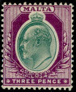MALTA SG42, 3d grey & purple, M MINT.
