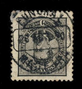 PORTUGAL 1890 - MiNr.54by a A 5R CANCELLED BY FUNCHAL / MADEIRA DATE STAMP