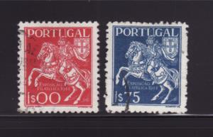 Portugal 636-637 U Postrider, Stamp Expo