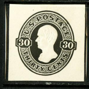 US Stamps # U204 30c Cut Square XF Mint