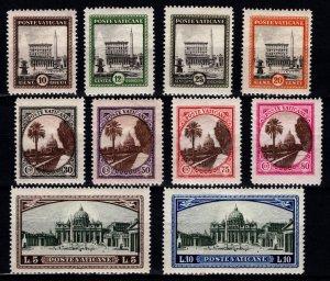 Vatican City 1933 Pope Pius XI, Part Set [Unused]