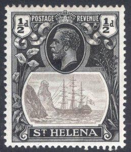 St Helena 1922 1/2d Grey&Black CLEFT ROCK SG 97c Scott 79v LMM/MLH Cat £70($91)
