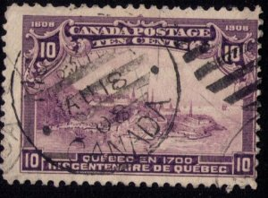 CANADA Sc # 101 Dark VioletView Of Quebec In 1700 FINE Cat..$125.00