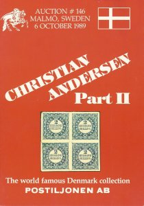 Christian Andersen Denmark Collection, Pt 2, Postiljonen, Sale #146, Oct. 6,1989