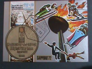 GUINEA EQUATORIAL-1972 WINTER OLYMPIC-SAPPORO'72 IMPERF: CTO S/S -VERY FINE