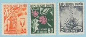 Haiti C52 - C54 Luftpost Postfrisch Leicht mit Scharnier Og No Fehler Extra Fein