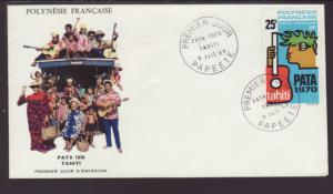 French Polynesia C51 Music 1970 U/A FDC