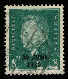Reich, 8 Pf, Germany, overprint 30 Juni 1930 (T-5793)