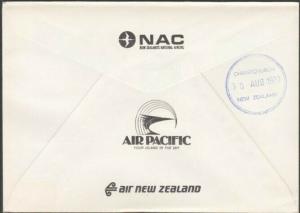 NEW HEBRIDES 1977 RNZAF commem flight cover - SANTO skeleton cds...........27804