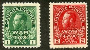Canada Scott MR1-MR2 MFNHOG - 1915 War Tax Stamps - SCV $130.00