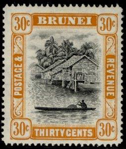 BRUNEI GVI SG88, 30c black & orange, M MINT.