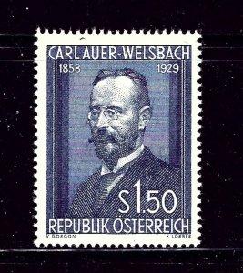 Austria 595 MLH 1954 Carl Auer-Welsbach