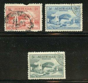 AUSTRALIA SCOTT# 130/32 SYDNEY BRIDGE SET VF USED--SCOTT $280.00