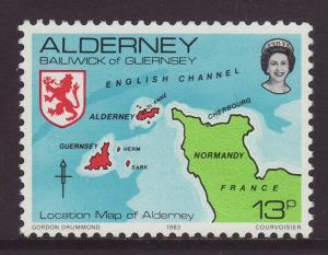 1983 Alderney 13p U/M SGA7