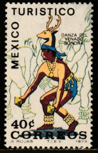 MEXICO 1013, TOURISM PROMOTION, SONORA, DANCE OF THE DEER. MINT NH. VF.