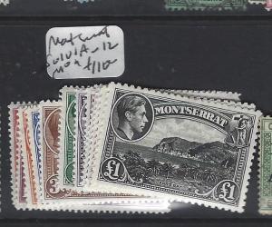 MONTSERRAT  (P2305B)  KGVI  SG 101A-112  SET  MOG