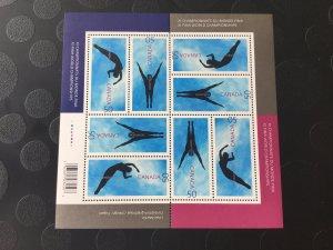 Canada Mint NH #2113-2114 XI FINA World Championships, pane of 8
