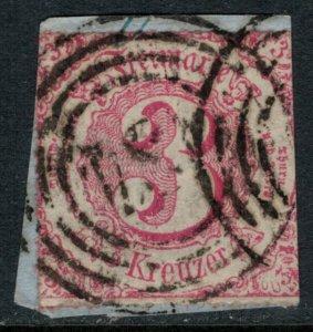 Thurn & Taxis #53  on piece  CV $30.00