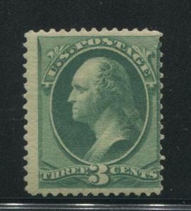 1870 US Stamp #147 3c Mint Never Hinged Average Perf 12. Catalogue Value $200