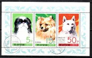 North Korea, Sc 1610-1612, CTO-NH, 1977, Dogs, (AA02058)