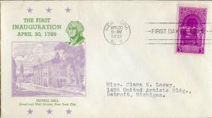 #854-41 FIRST DAY COVER BY BRONESKY CACHET BN971