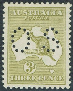 AUSTRALIA 1915 KANGAROO OS 3D 3RD WMK