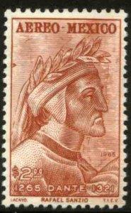 MEXICO C308, 700th Anniv of the birth of Dante Alighieri MINT, NH. VF.
