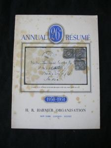 26th ANNUAL RESUME OF H R HARMER SEASON 1950-51