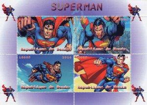 Benin 2014 Superman Cartoons 4v Mint Souvenir Sheet S/S. (#1)