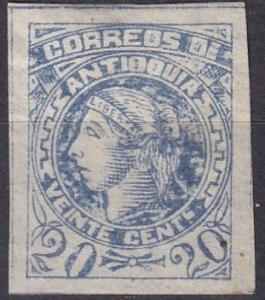 Colombia Antioquia #43 F-VF  Used  CV $8.00 (A19775)