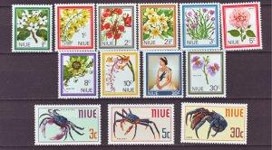 J22182 Jlstamps 2 1969 niue sets mh #122-31,132-4 wildlife