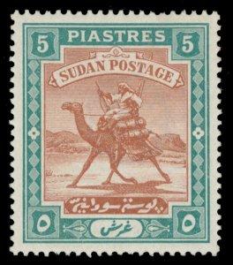 Sudan 1898 QV 5p brown & green MLH. SG 16. Sc 15.