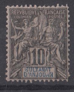 Anjouan 5 SG 5 MH VF 1892 SCV $11.50