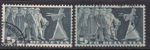 SWITZERLAND^^^  KEY  5 Francs sc# 245  x2 used  $ 45.00@@lar2544swiss4