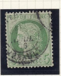 France 1871-76 Early Issue Fine Used 5c. 261194