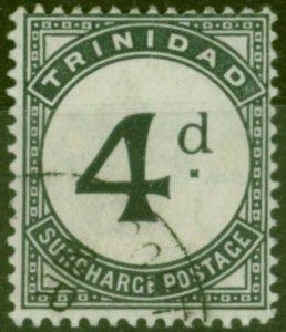 Trinidad 1905 4d Slate-Black SGD14 Fine Used