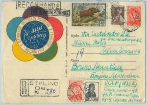 66868 - USSR Russia - Postal History -   COVER to ITALY 1957 - Animals