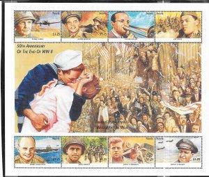 Nevis #918 End of World War ll  S/S (MNH) CV$10.00