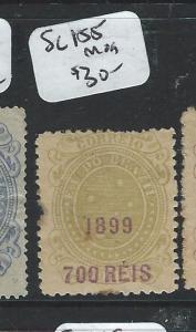 BRAZIL (P2603B) 1899 700 R  SURCH SC   155   MOG